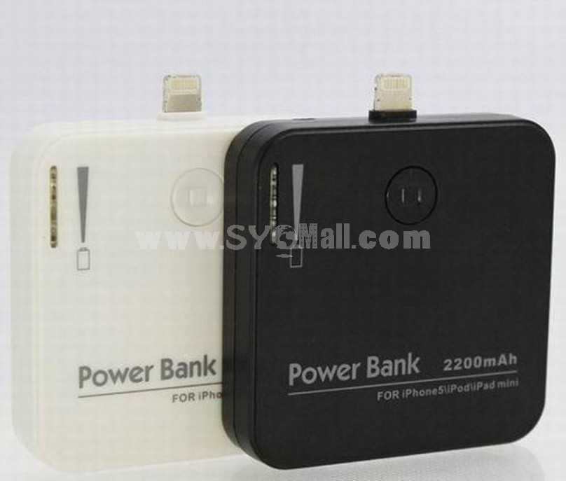 2200mAh Portable Power Bank Special Design for iPhone 5 Port