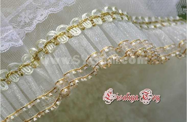 Lovely Romantic Couple Bears Wedding Dress Style PP Cotton Stuffed Lint Toys 2PCS