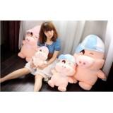 Wholesale - Cartoon McDull Couple Pigs PP Cotton Stuffed Animal Plush Toy 2PCS