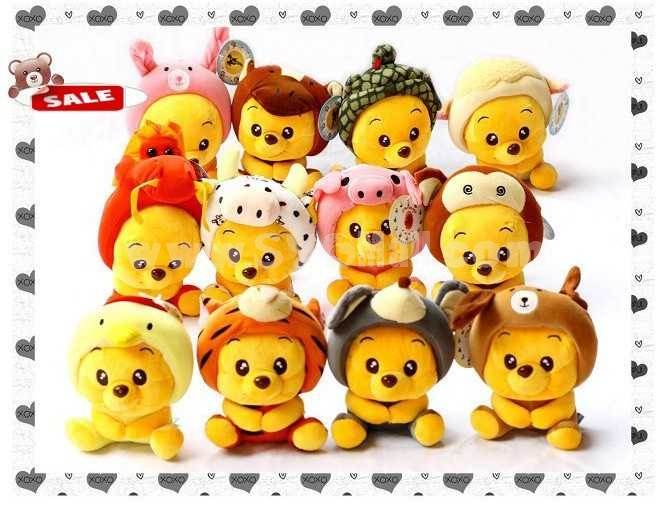 Disney Winnie Chinese Zodiac Collector's Edition PP Cotton Stuffed Toys