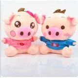 Wholesale - Cartoon Lover Pigs PP Cotton Stuffed Animal Plush Toy 2PCs 40CM Tall