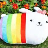 Wholesale - Cartoon Rainbow Rabbit PP Cotton Stuffed Animal Plush Toy