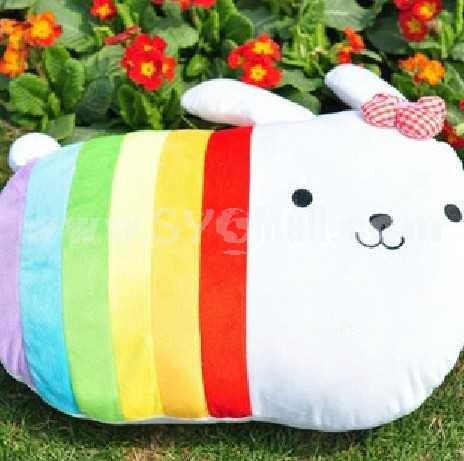 Lovely Cartoon Rainbow Rabbit PP Cotton Stuffed Toys