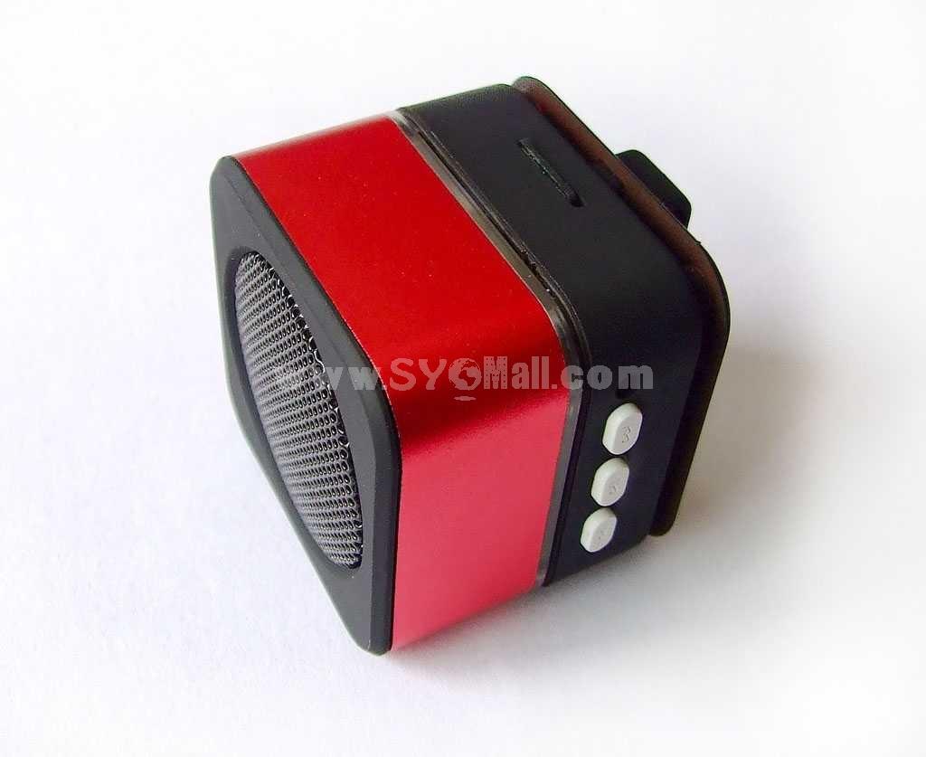 Mini Stereo Speaker With USB & SD Card Slot (E22)