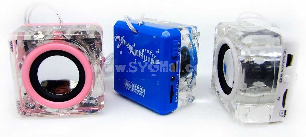Portable Crystal Speaker With USB & TF Card Slot (CH-38)