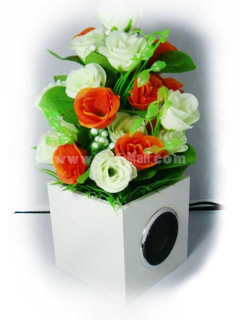 Handcrafted Floral Photocatalyst Speaker