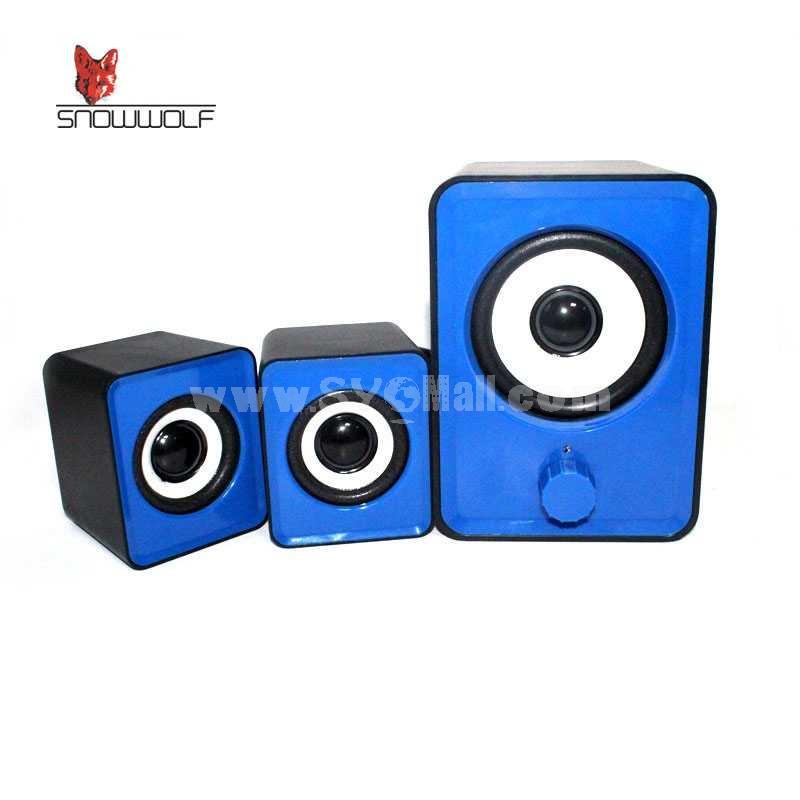 Snowwolf 2.1 Multimedia Speaker For Notebook/PC (E2101)