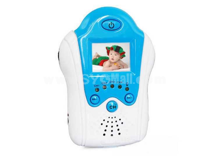 1.5 Inch 2.4GHz Blue Digital Wireless Babymonitor