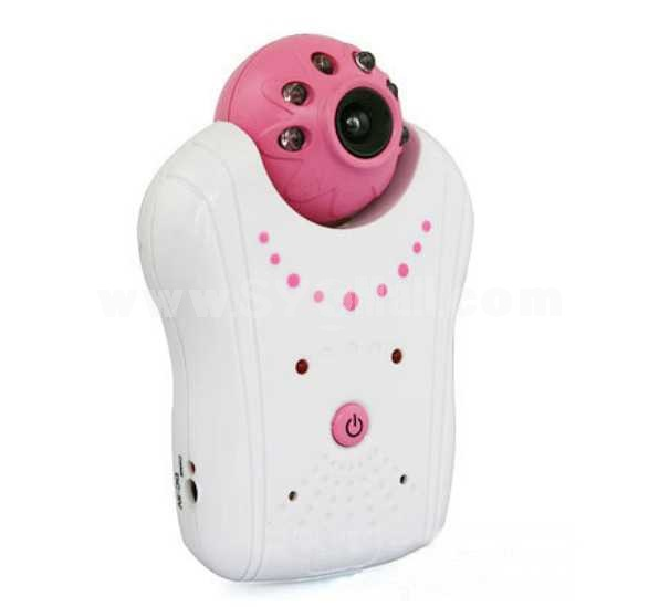 1.8 Inch 2.4GHz Pink Digital Wireless Babymonitor