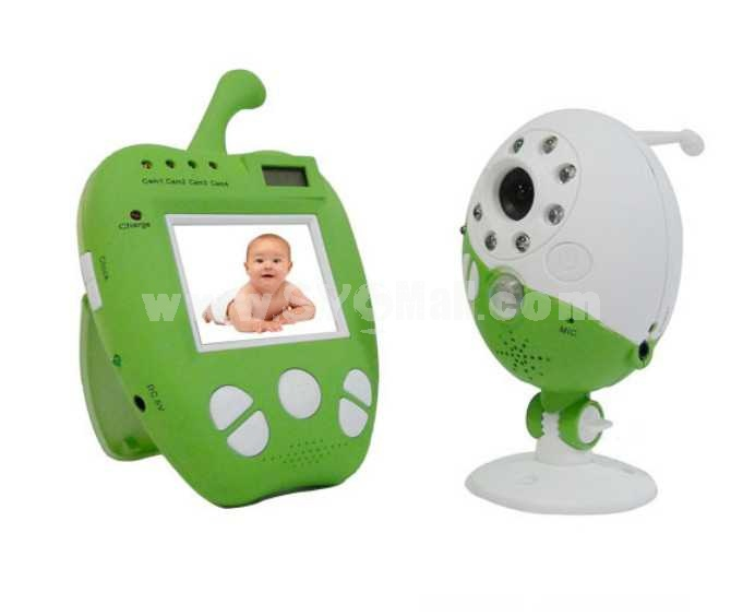 2.5 Inch Apple Shaped Digital Wireless Babymonitor