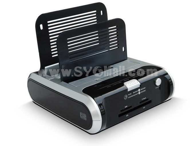 USB2.0 Combo Dual HDD Docking Station (YY-D2320A)
