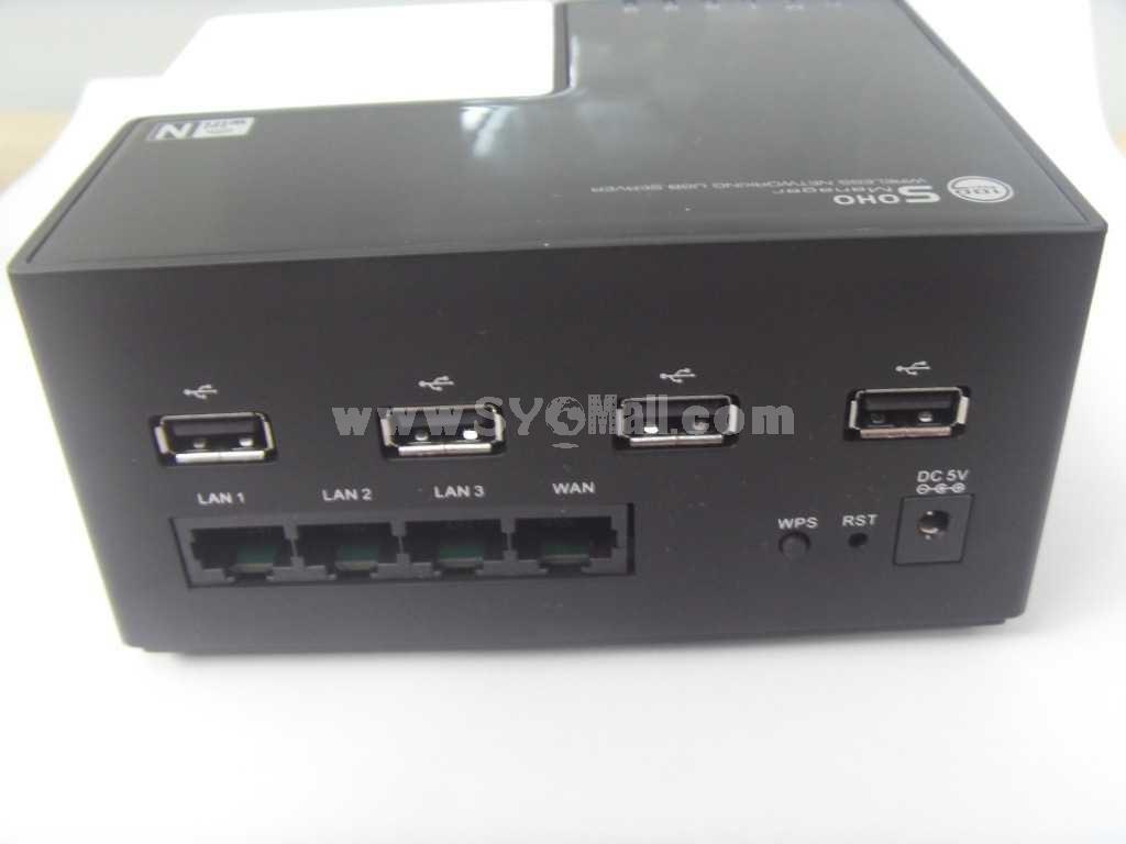 Wireless-N Networking USB 2.0 Server (YY-NU78W44)