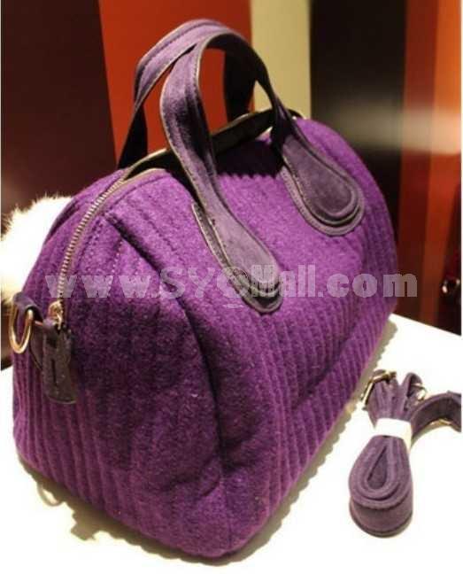 Winter Stitch Pillow Shaped Single-Shoulder Bag