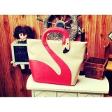 Wholesale - Cute Swan Shaped Contrast Color Design Hand Bag
