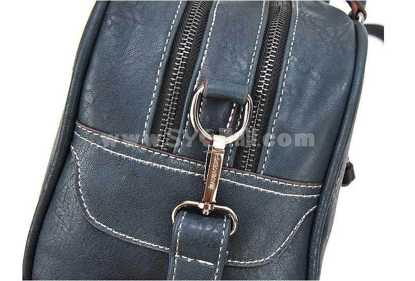 European Vintage Motor Style Single-Shoulder Bag