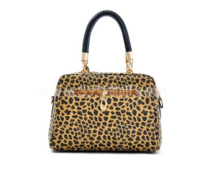 Fashion Leopard Print Paillette Hand Bag