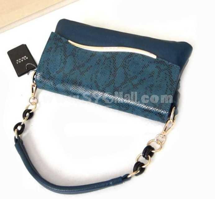 Fashion Simple Black Chain Hand Bag