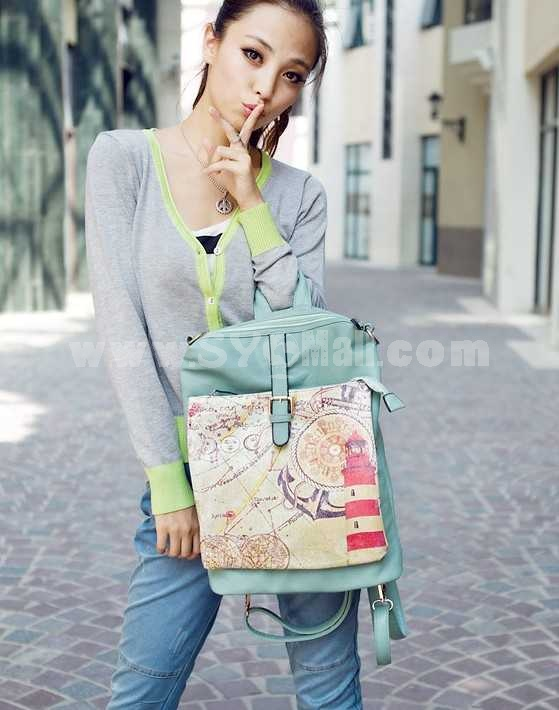 Multi-Function Student Style Leisure Backpack