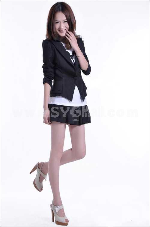 Narrow-Waist Slim Short Business Suit (W307)