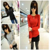 Wholesale - Slim Backing T-Shirt with Long Sleeves (T471)