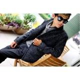 Wholesale - Men's Fashion Woolen Leisure Overcoat 501B-B104