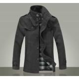 Wholesale - Men's Classic Style Extra Thick Medium Overcoat 717-F05