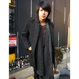 Wholesale - Men's Vintage Style Stand Collar Overcoat 1704-CY151