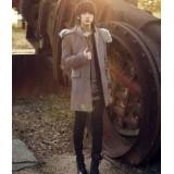 Wholesale - Men's Fashion Hooded Woolen Overcoat 1704-CY150
