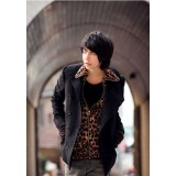 Wholesale - Men's Simple Style Extra Thick Woolen Overcoat 1301-F168