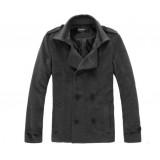 Wholesale - Men's Winter Extra Thick Cotton Fur Collar Medium Overcoat 1904C-C009