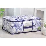 Wholesale - Classic Non-woven Fabrics Visible Window Blue and White Porcelain Series Storage Bag Medium