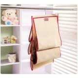 Wholesale - Simple Pattern Non-woven Fabric 5 Shelf Hanging Closet Organizer