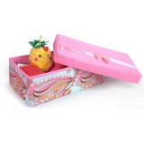 Wholesale - Stylish Pink Phoenix Style Storage Box with Independent Cover Small