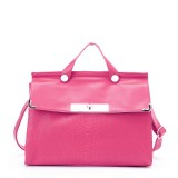 Wholesale - Simple Pattern PU Soild Color Snake Skin Texture Lock Design Handbag Shoulder Bag Messenger Bag