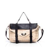 Wholesale - Stylish Crocodile PU & Leather Soild Color Handbag Shoulder Bag Messenger Bag