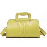 Wholesale - Stylish OL Pattern Cow Leather Soild Color Handbag Shoulder Bag Messenger Bag
