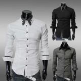 Wholesale - Fashionable Leisure Slim Long-Sleeved Shirt (1414-CS10)