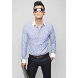 Wholesale - 100% Cotton Business Casual Strips Style Shirt with Long Sleeves