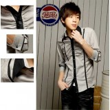 Wholesale - Fashionable Slim Half-Sleeve Shirt (6-903-C13)