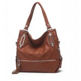 Wholesale - Elegance Tassels Checkerboard Pattern Shoulder Bag