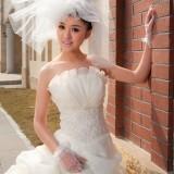 Wholesale - Ball Grown Pearl Strapless Empire Floor-length Wedding Dress
