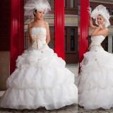 Wholesale - Ball Grown Strapless Flora Empire Floor-length Organza Wedding Dress