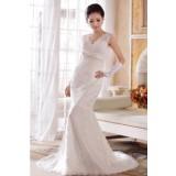 Wholesale - Retro Halter V-neck Slim Lace-up Pailette Mermaid Wedding Dress