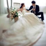 Wholesale - Strapless Lace-up Court Train Halter Organiza Wedding Dress