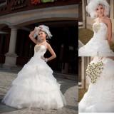 Wholesale - Halter A-line/Ball Gown Flora Organiza Empire Zipper Lace-up Wedding Dress