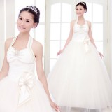 Wholesale - Halter A-line/Ball Gown Organiza Empire Lace-up Wedding Dress