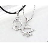 Wholesale - Cute Boy and Girl Shaped Lovers' Cupronickel Pendent