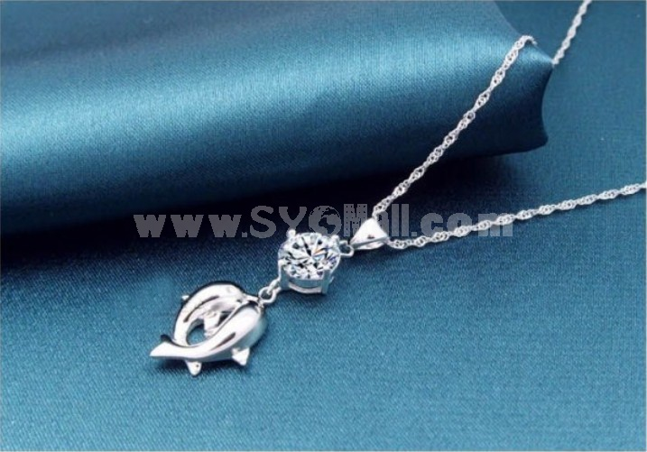 """The Love of Dolphin"" Cupronickel Pendent"