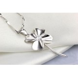 Wholesale - Four Leaf Clover Shaped Cupronickel Pendent