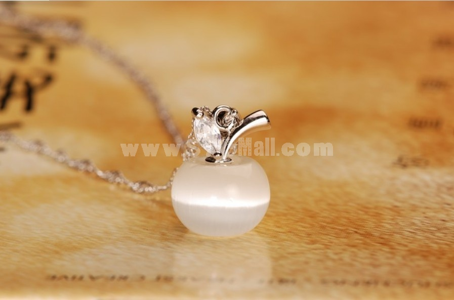 Simple Round Cat's Eye Pendent